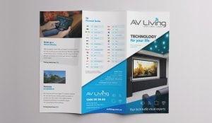AV Living Brochure 300x174 - AV Living 6pp DL Brochure